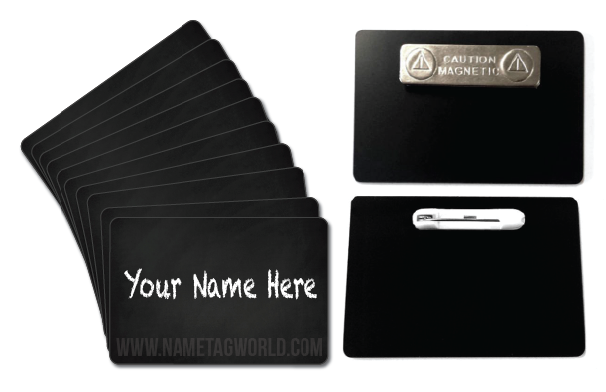 Chalkboard name tags name badges reusable