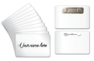 Dry erase reusable name tags name badges