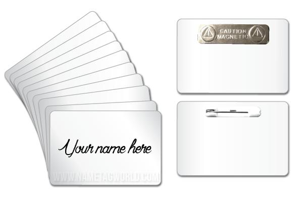 dry erase name tag blank pack of 10 rectangular 3 w x 2 h white