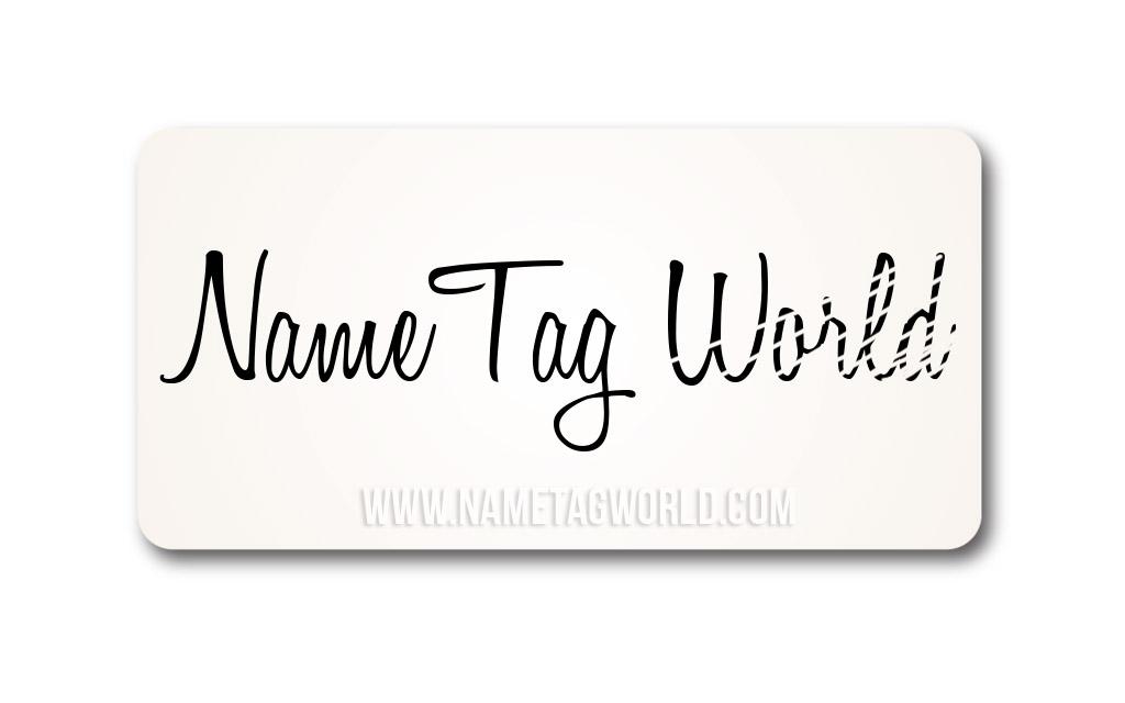 3 x 1 5 dry erase custom printed name tag write on wipe off