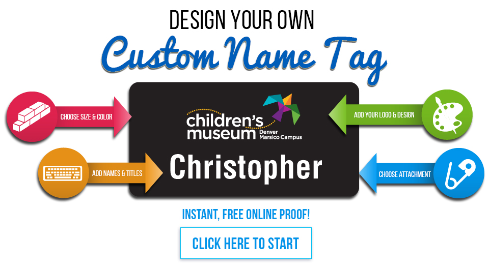 custom name tags badges printable with logo order online